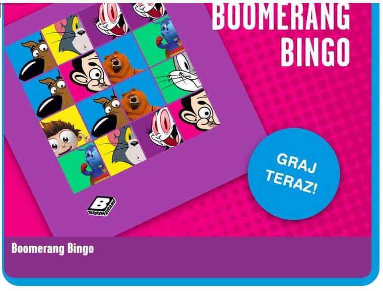 Gry izabawy nakanale zbajkami Boomerang
