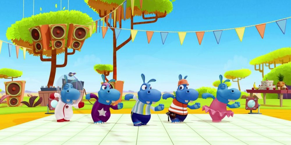 Nowe szaleństwa zabawnych hipopotamów wBoomerangu